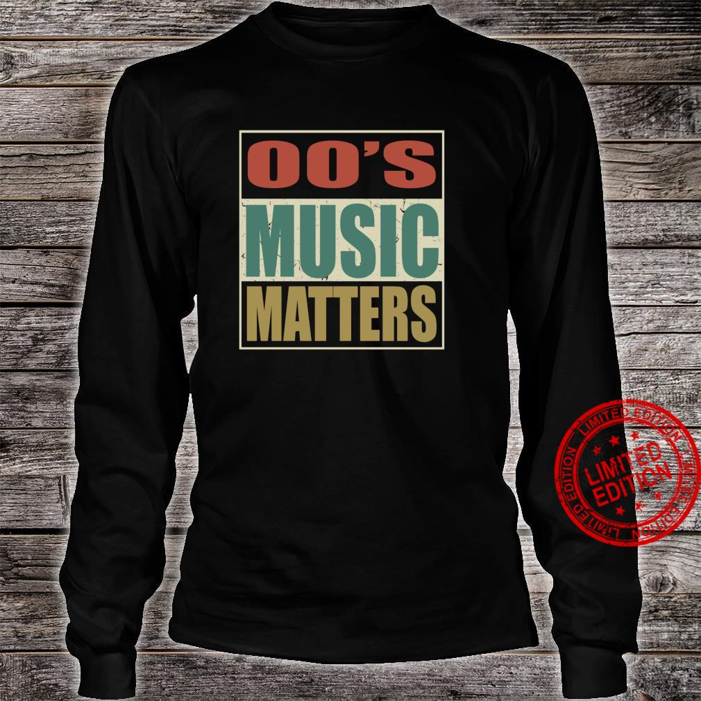 00s Music Matters Vintage Colors Style Pop Era Song Shirt long sleeved